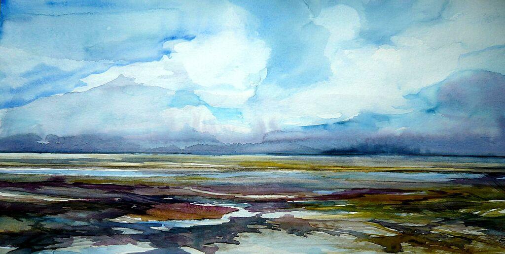 Malen/Zeichnen lernen » Malen lernen: Aquarellmalerei » Wolken malen ...