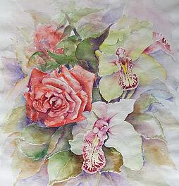 wie male ich eine rose