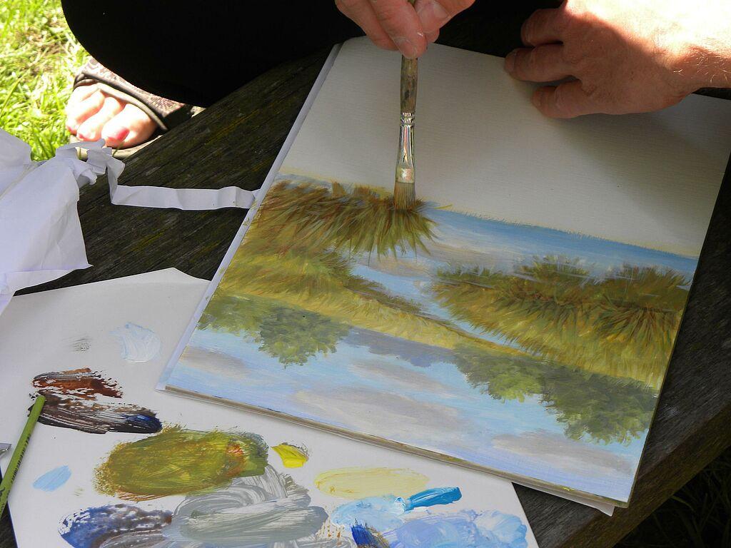 Malen Zeichnen Lernen Malen Lernen Acrylmalerei Transport Der