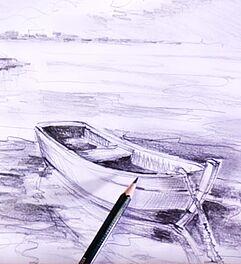 Malen Zeichnen Lernen Zeichnen Und Skizzieren Lernen Boot Im