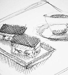 Malen Zeichnen Lernen Und Skizzieren Linie Ohne