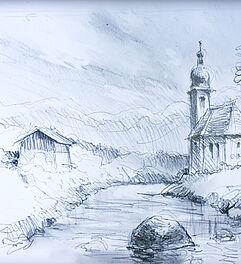 Malen Zeichnen Lernen Zeichnen Und Skizzieren Lernen Landschaft