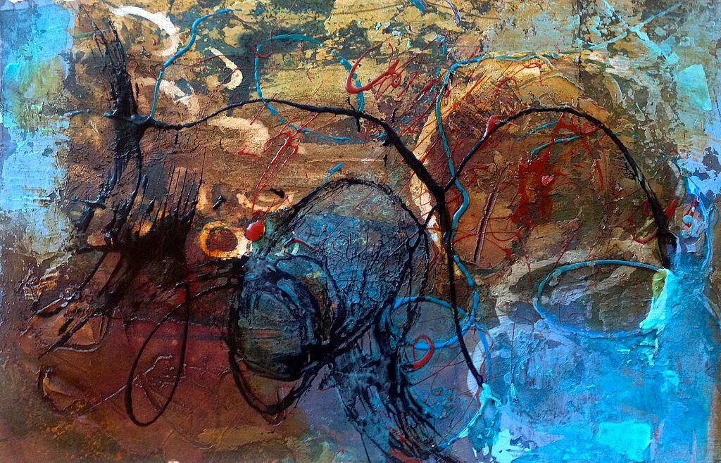 Malen zeichnen lernen malen lernen acrylmalerei spritzt llen zum malen anita h rskens - Gemalte bilder auf leinwand abstrakt ...