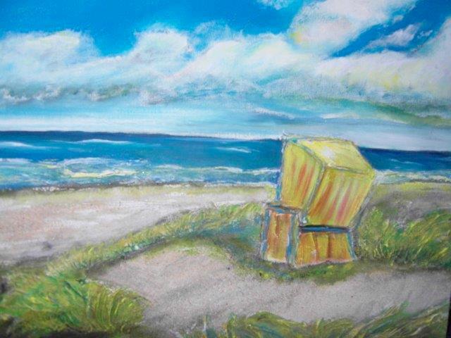malen zeichnen lernen malen lernen acrylmalerei urlaubssand vom meer auf leinwand streuen. Black Bedroom Furniture Sets. Home Design Ideas
